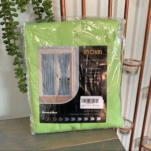 Jin Chan Green Blackout Door Curtain 72 x 54